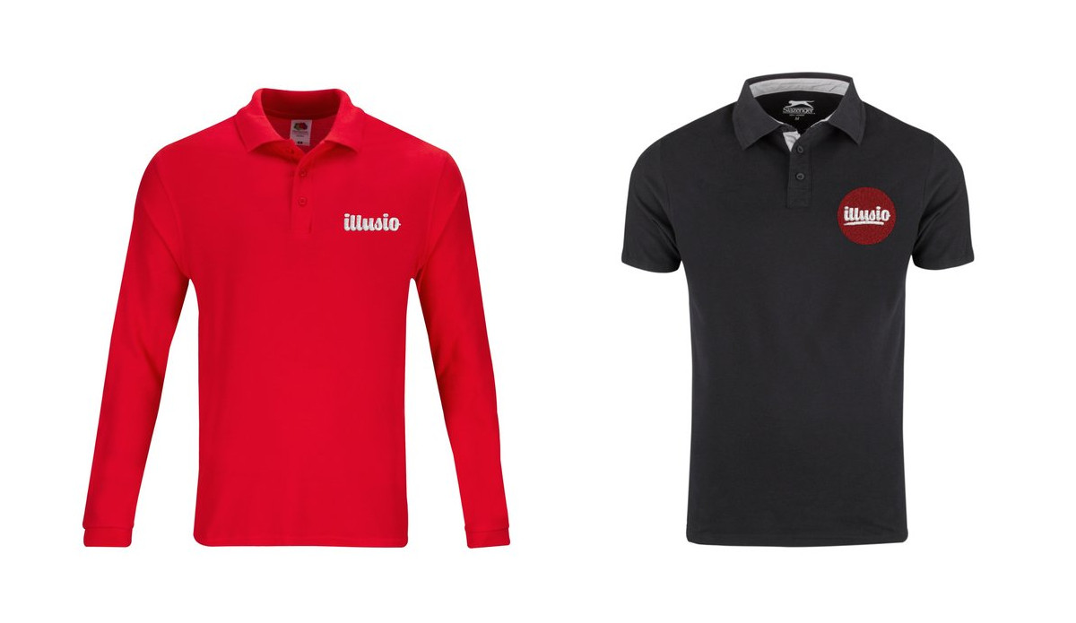 Customised polo shirts and jumpers